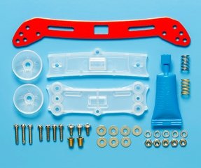 타미야,95363,TAMIYA, Wide F Sliding Damper 2 Red